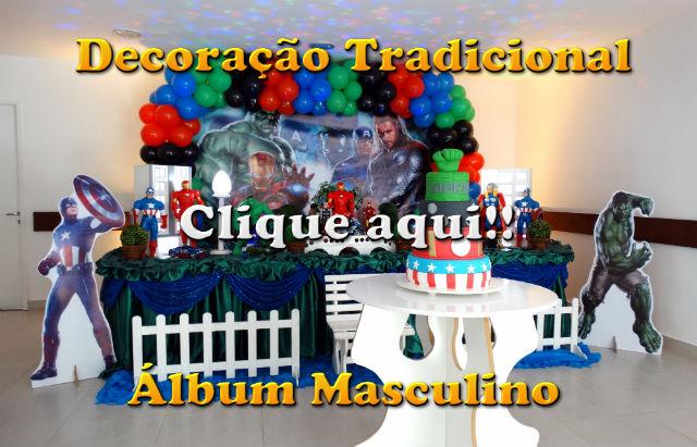 Fotos decoração tradicional forradas com toalhas de pano - festa infantil - imagens com temas de meninos