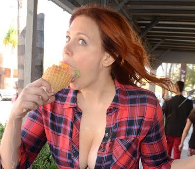 Maitland Ward Eating Ice Cream – Los Angeles