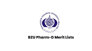 BZU Pharm-D Morning & Evening Merit Lists