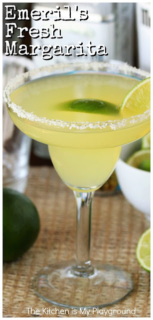 Emeril's Fresh Margarita with Homemade Citrus Syrup ~ Add pizazz to your Margaritas with homemade citrus syrup -- freshly made, delicious, and quite possibly the foundation of the best margarita around, thanks to Emeril Lagasse's Fresh Margarita recipe!  www.thekitchenismyplayground.com