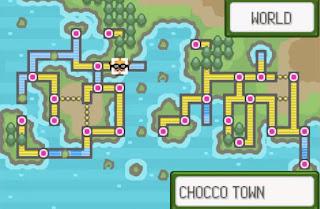 Pokemon Super Glazed para GBA Mapa Mundo con 4 Regiones