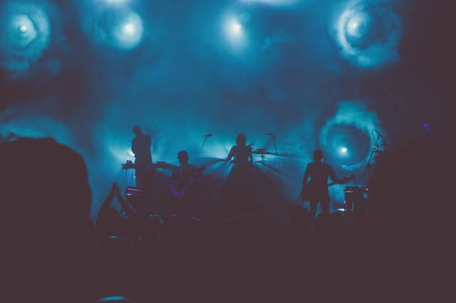 Music Band Performs on Stage During Nighttime HD Copyright Free Image