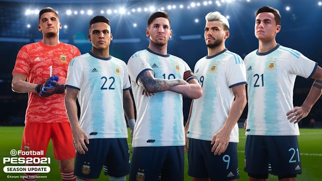 ARGENTINA CLUB SELETION COMING IN PES 21 MOBILE PS AND PC