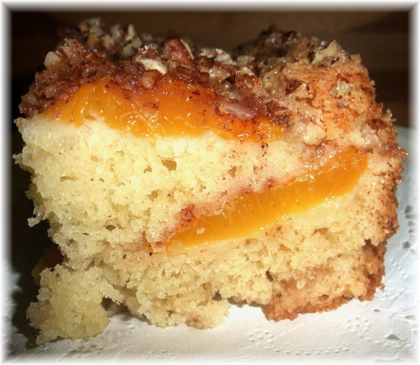 Easy Fresh Peach Coffee Cake Recipe