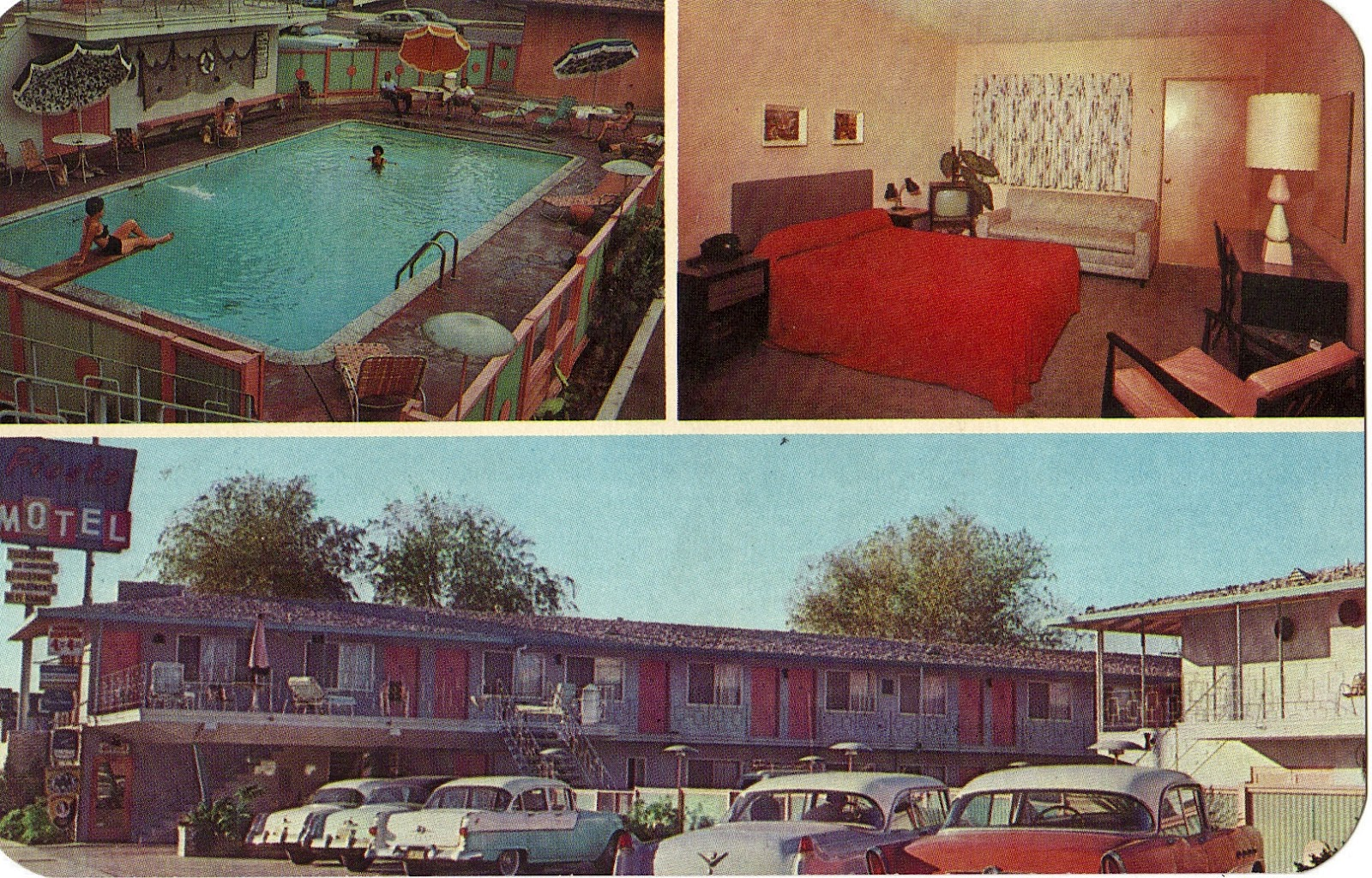 Hollywood Motel Fiesta Motor Hotel In North Hollywood Postcard San Fernando