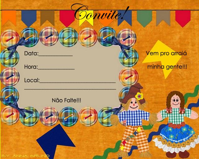 Convites Para Festa Junina Coloridos Para Imprimir Espaço Educar