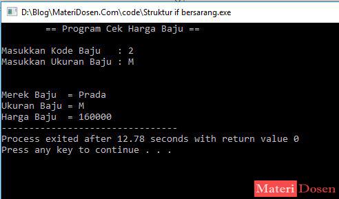 Pernyataan Nested IF (IF Bersarang) C++, Lengkap Contoh Program ...