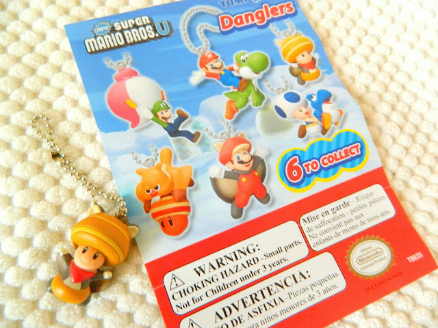 Toys for a Pound haul- super mario brothers toad keychain figure