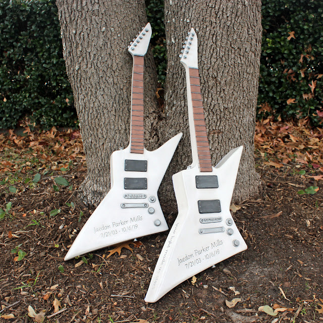 custom LTD electric guitar urns