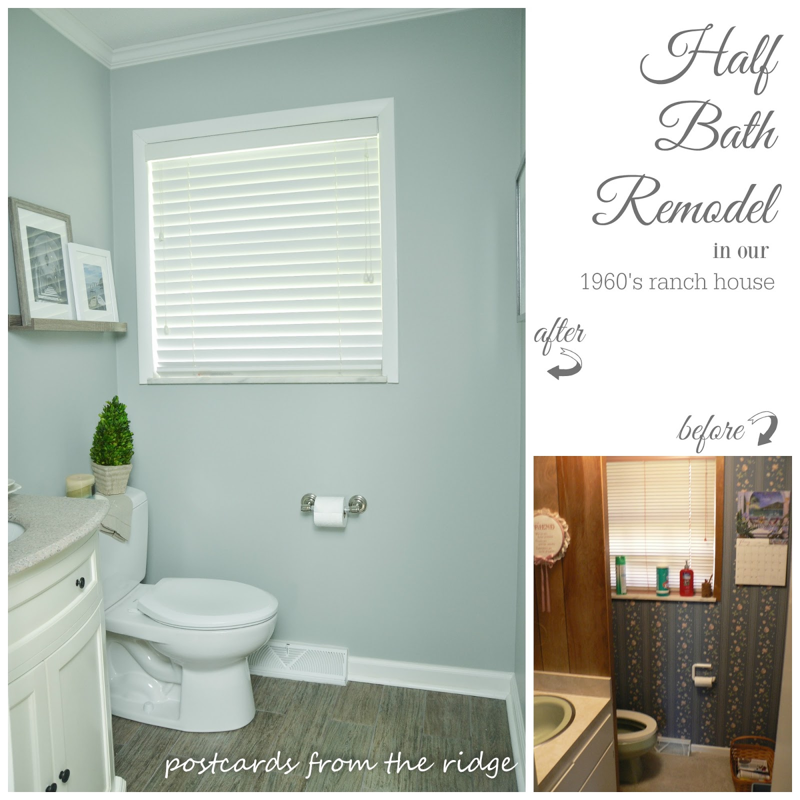 Hall Bath Renovation Reveal And Details Postcards From The Ridge - 1960 bathroom remodel