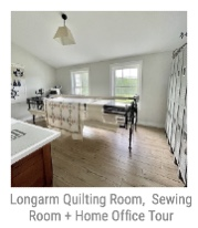 Longarm Quilting Room, Sewing Room + Home Office Tour