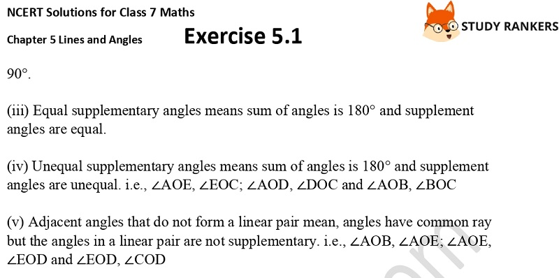 NCERT Solutions for Class 7 Maths Ch 5 Lines and Angles Exercise 5.1 6
