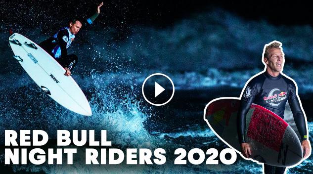 Surfing Under the Moonlight Red Bull Night Riders 2020