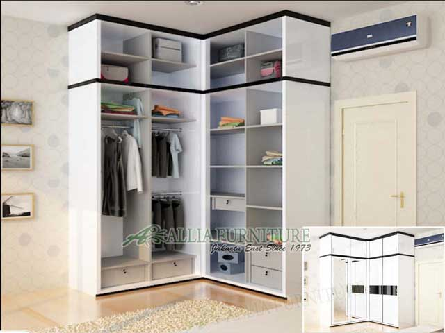 lemari minimalis model sudut zara