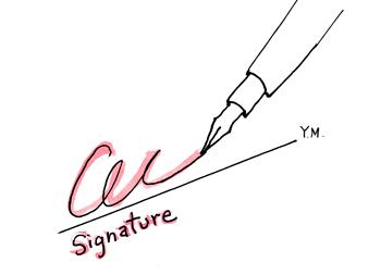 signature by Yukié Matsushita