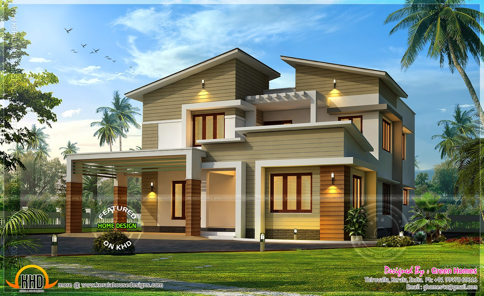 April 2014 kerala home design and floor plans for Best green home designs