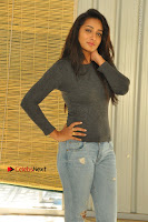 Actress Bhanu Tripathri Pos in Ripped Jeans at Iddari Madhya 18 Movie Pressmeet  0005.JPG