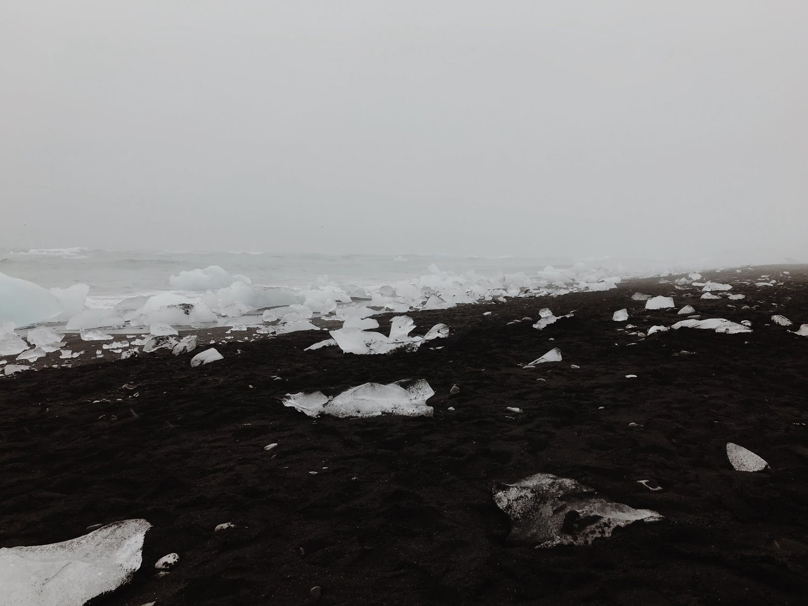 Ice covered sand