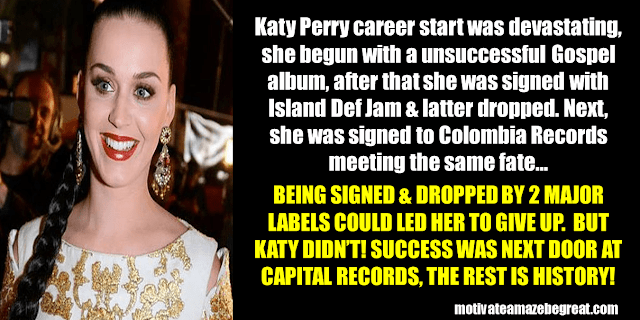 Success Stories From Famous People Who Failed Before Succeeding: Katy Perry