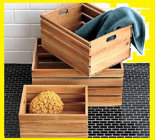 Bathroom storage boxes