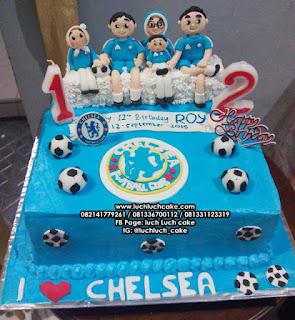 Kue Tart Ulang Tahun Club Bola Chelsea