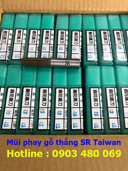 Mũi phay gỗ thẳng SR Taiwan 12*12*30mm