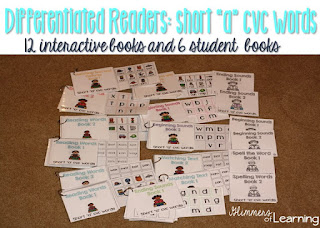 https://www.teacherspayteachers.com/Product/Differentiated-Readers-Short-a-vowel-cvc-words-2730902