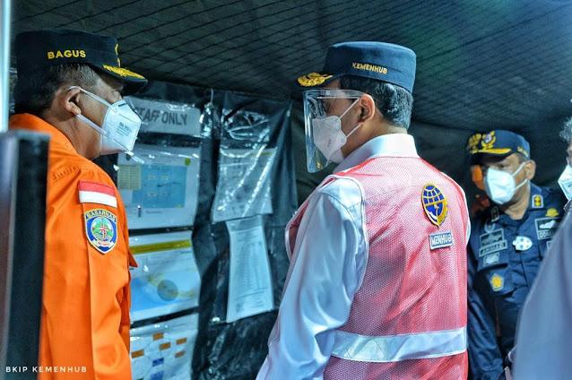 Menhub Bersama Panglima TNI Tinjau Lokasi Jatuhnya Pesawat Sriwijaya Air SJ 182