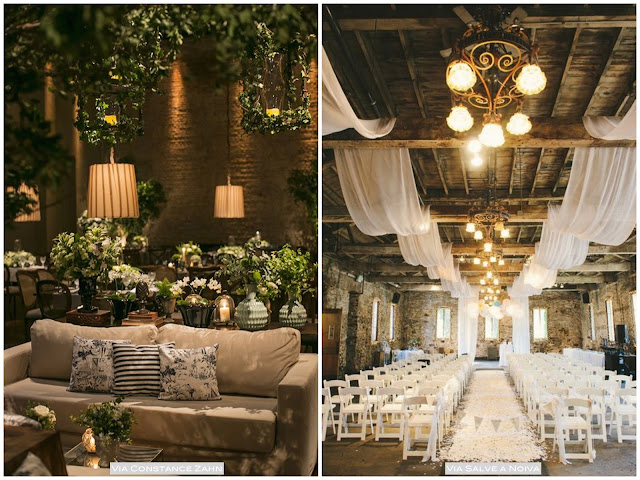 idéias decoração festa casamento a noite
