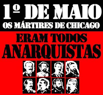 Ilustração dos mártires anarquistas de Chicago