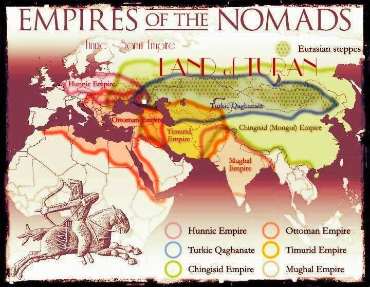 Гуннская империя, Тюркский каганат, Османская империя, Империя Чингизхана