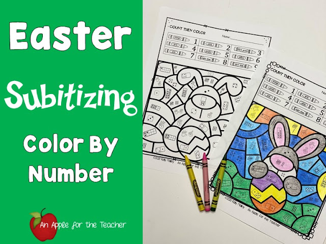 Easter Subitizing Color By Number Bunnies