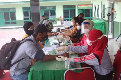 Sukseskan Program Pemerintah, Kodim Inhil Lajsanakan Vaksinasi