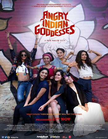 Poster Of Angry Indian Goddesses 2015 Hindi 720p BluRay ESubs Watch Online Free Download downloadhub.in