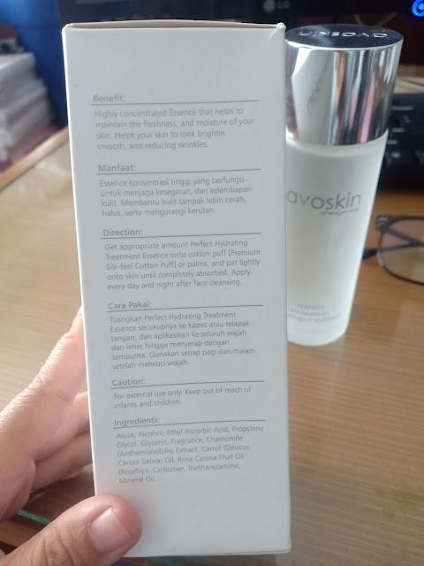 perfect hydrating treatment essence avoskin