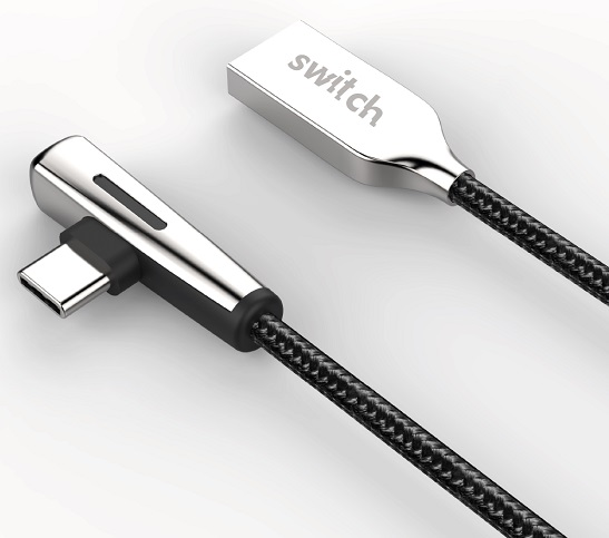 Switch Right-Angled USB to Lightning Cable