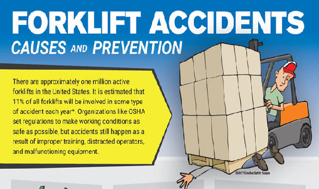 Forklift Accidents: Causes and Prevention #infographic
