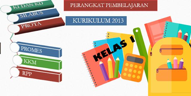 Perangkat Pembelajaran kurikulum 2013  Kelas 1 SD/MI