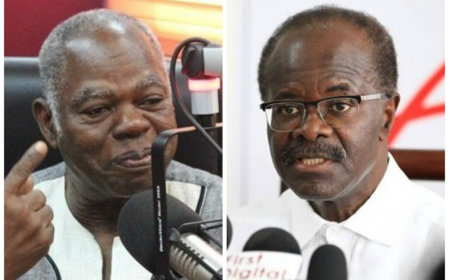 Dr. Edward Mahama (L) and Dr. Papa Kwesi Nduom (R)