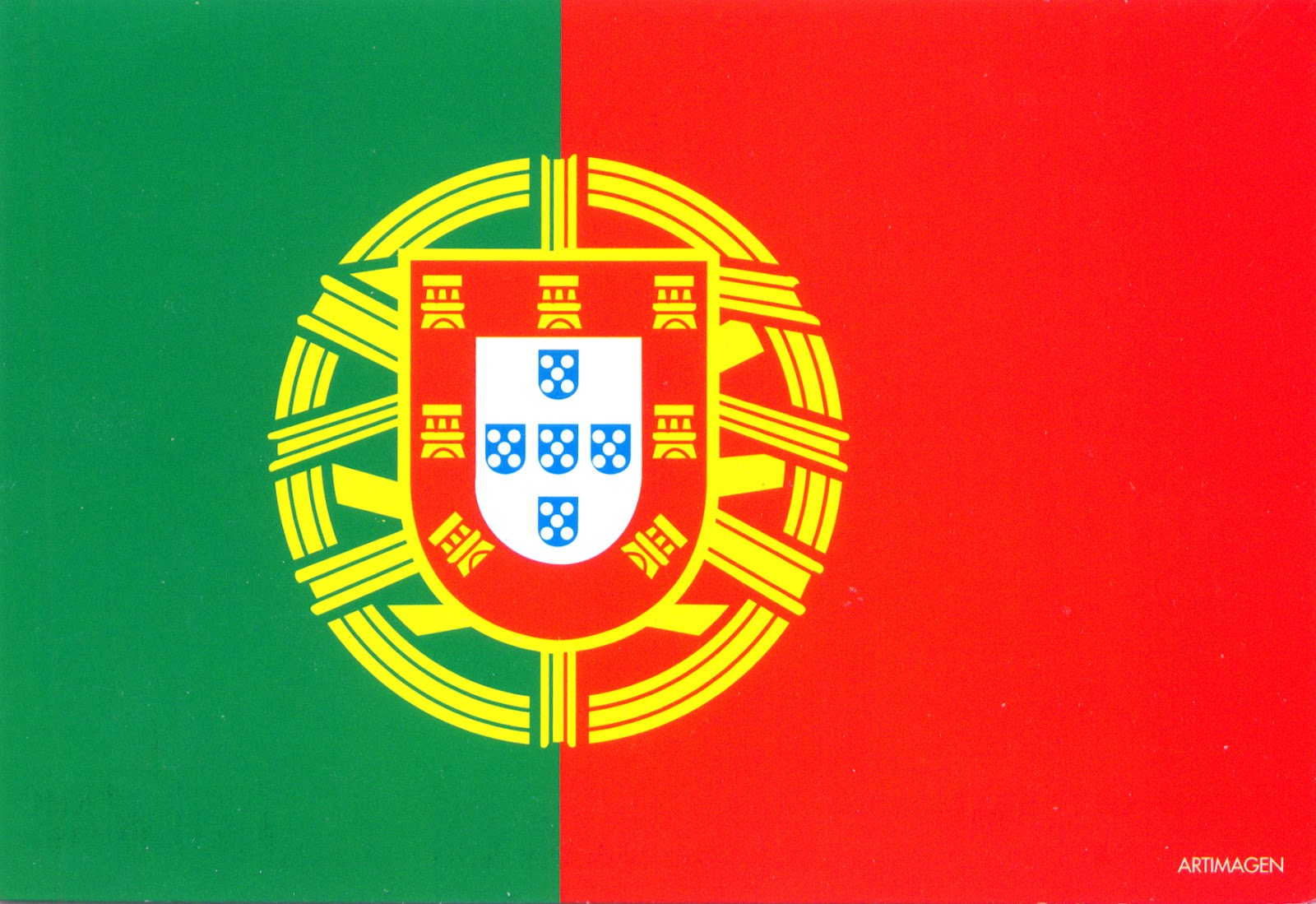 World Come To My Home 0488 Portugal The Flag Of The Country