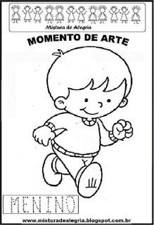 Projeto Pátria, desenho de menino