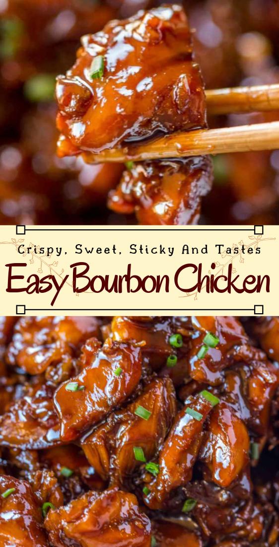 Easy Bourbon Chicken #dinnerrecipe #food #amazingrecipe #easyrecipe