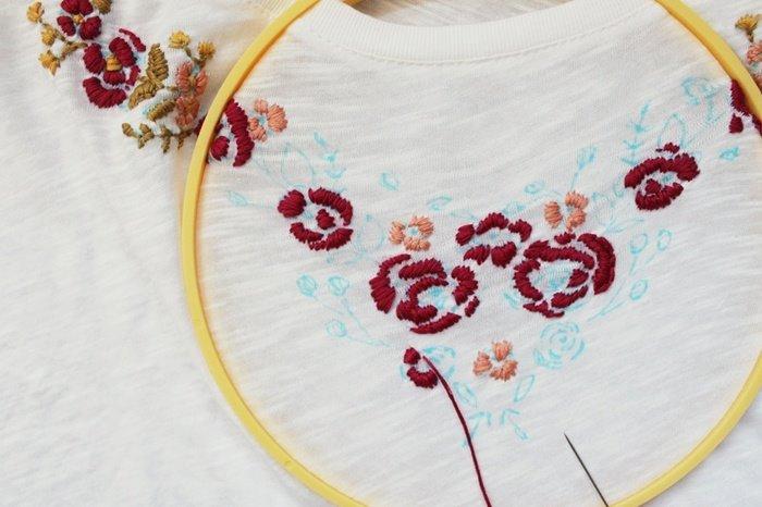Lựa chọn màu chỉ theo màu sắc của lá và hoa