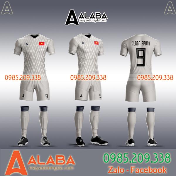 Áo đội tuyển Việt Nam trắng tự thiết kế chất