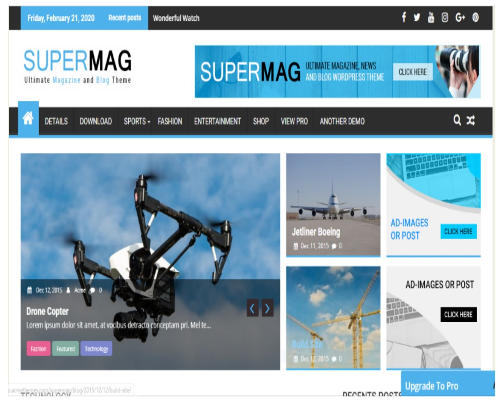 SuperMag WordPress Theme