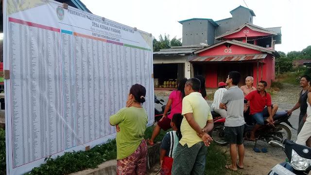 Baliho Transparansi Desa  Tentang penerima bantuan