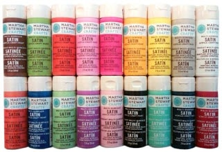Martha stewart multi purpose craft paint in a variety of colors