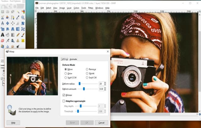 محرر-صور-مجاني-GIMP