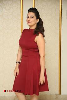 Telugu Tollywood Anchor Manjusha Pos in Red Short Dress  0016.JPG