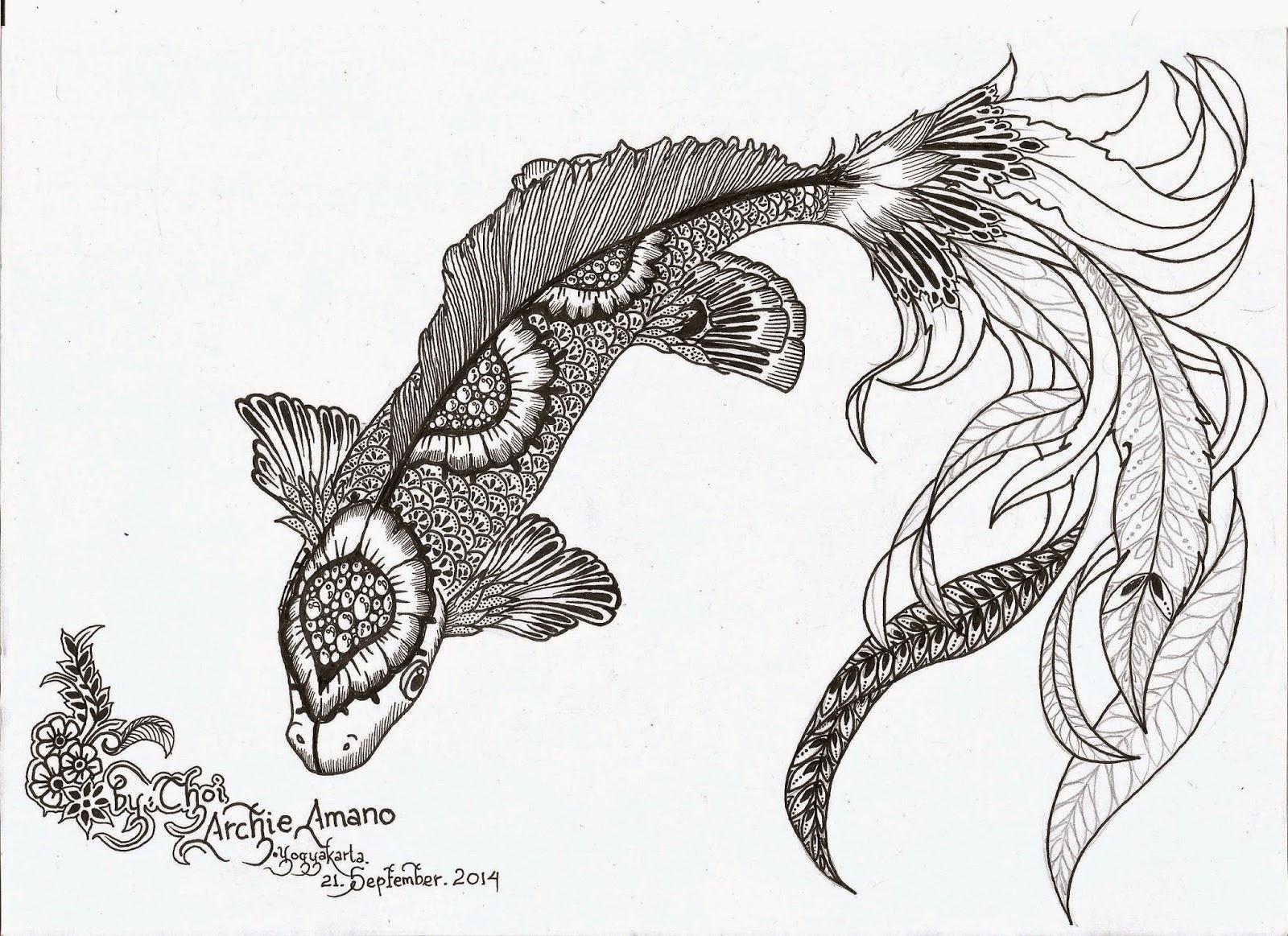 Sketsa Gambar Batik Hewan
